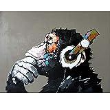 Yyboo Abstrakte Affe DIY Malen nach Zahlen Home Wall Art Bild Malen nach Zahlen Kalligraphie Malerei Artwork 40x50cm