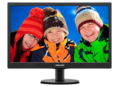 Philips 193V5LSB2/10 47 cm (18,5 Zoll) Monitor (VGA, TN Panel, 1366 x 768, 60 Hz, ohne Lautsprecher) schwarz