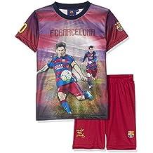 FC Barcelona-Juego oficial de camiseta de MESSI-Pantalón corto de deporte, colección oficial FC Barcelona talla de niño Azul azul Talla:10 años