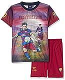 Fc Barcelona Conjunto oficial de camiseta y pantalones cortos (talla para niño), diseño de Lionel Messi, azul, 14 años