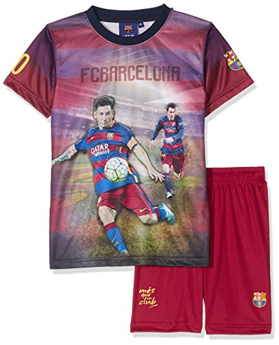 Set Trikot + Shorts Barça–Lionel Messi–Offizielle Kollektion FC Barcelona–Größe Kinder Jungen 8 Jahre Blau - blau
