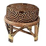 A&E Kutch Sparkling Cane cusioned stool ...