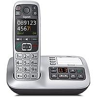 Gigaset E560A Telefon - Schnurlostelefon / Mobilteil - Farb-Display - Anrufbeantworter - Freisprechfunktion - Grosse Tasten Telefon -mit SOS Taste - Analog Telefon - platin