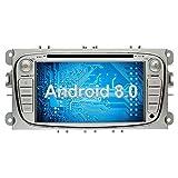 Ohok 7 Zoll Bildschirm 2 Din Autoradio Android 8.0.0 Oreo Octa Core Radio mit Navi Moniceiver DVD GPS Navigation Unterstützt Bluetooth DAB+ für Ford Focus Silber