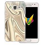 Mobilefox Liquid transparente Silikon TPU Schutzhülle 0,7mm dünne Handy Soft Case für Samsung Galaxy A3 (2014-2015) Liquid Gold - Verlauf Hülle Cover