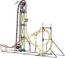 K'Nex KNEX Thrill Rides-Jeu Construction-Circuit Electro'Inferno-2 Modèles Motorisés, 17040, Rot
