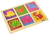 Andreu Toys 30x 22,5x 1cm 4Modell Dinos Puzzle (Mehrfarbig)