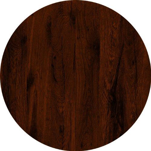 Werzalit / hochwertige Tischplatte / Eiche antik / runde Form 70 cm / Bistrotisch / Bistrotische / Gartentisch / Gastronomie (Eiche Beistelltisch Runde)