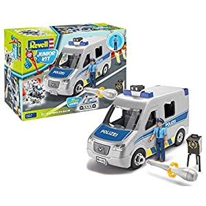 Revell 00811 - Junior Kit Police Van Toy with Action Figure