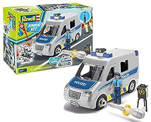 Revell 00811 - Junior Policía Van, con Figura, Kit con el Sistema de Tornillos para niños a Partir de 4 años, construye y Juega con Excelentes características, 26,0 cm