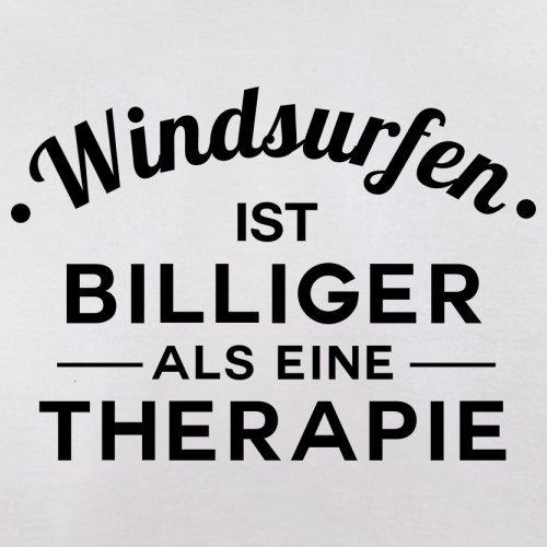 Windsurfen ist billiger als eine Therapie - Herren T-Shirt - 13 Farben Weiß