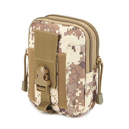 Wear-resisting Tactical Tasche - iParaAiluRy Außen Sport Leichtbau mit hoher Kapazität Wasserdichte Nylon Molle Reißverschluss-Pack Utility-Gürteltasche für kleine Gegenstände (Armee Ranger Kind Kostüme)