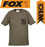 Fox Chunk Khaki Camo Pocket T-shirt, Tshirt, Angelshort, Anglershirt, T Shirt