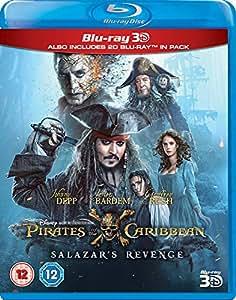 Pirates of the Caribbean: Salazar's Revenge (3D) [Blu-ray] [2017] [Region Free]