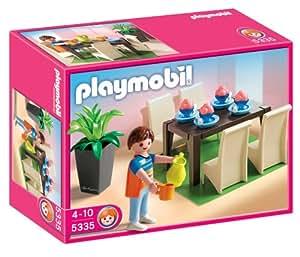 Playmobil 5335 jeu de construction salle manger for Salle manger playmobil