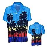 Widmann 05752 Hawaiihemd mit Palmen, Herren, Mehrfarbig, XL