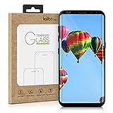 kalibri Echtglas Displayschutz für Samsung Galaxy S8 Plus - 3D Schutzglas Full Cover Screen Protector mit Rahmen - Glas Folie Auch für gewölbtes Display in Schwarz
