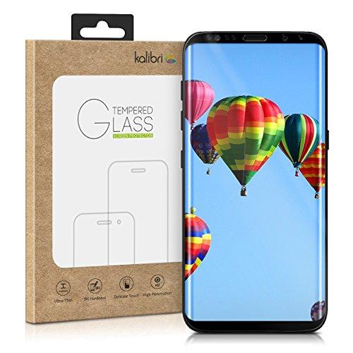 kalibri-Echtglas-Displayschutz-fr-Samsung-Galaxy-S8-Plus-3D-Schutzglas-Full-Cover-Screen-Protector-mit-Rahmen-in-Schwarz