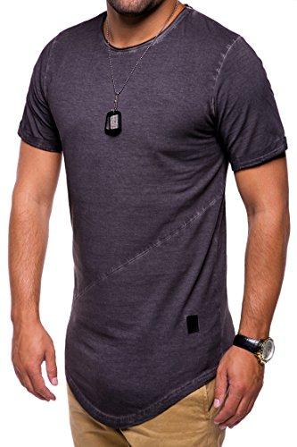 MT Styles Oversize T-Shirt Washed C-9022 Dunkelgrau