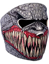 Gear - Pasamontañas tipo máscara (protección de neopreno, talla única regulable, apto para usar en exteriores, esquí, snowboard, surf, moto, quad y bicicleta, así como para airsoft, paintball), diseño de demonio