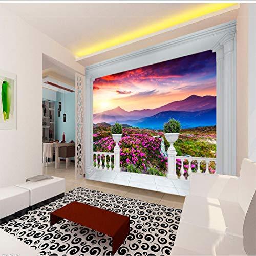 Fototapete 3D Effekt Vlies Tapete Dreidimensionale Elegante Soft - Paket Europäischen Humanitären Rose Frisch Tapeten Wandbilder Wohnzimmer