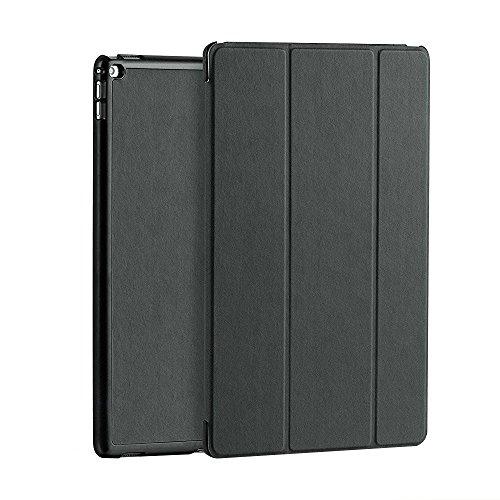 Preisvergleich Produktbild Plemo Smart Hülle für Apple iPad Pro (12,9 Zoll), Ultraslim Cover Schutzhülle Case mit Standfunktion, Unterstützt Sleep / Wake Funktion, Grau