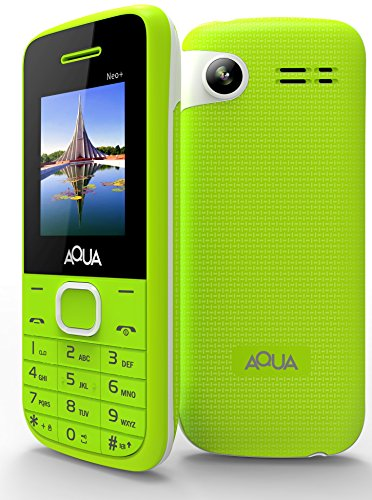 Aqua Neo Plus - 2000 Mah Battery Dual Sim Basic Keypad Mobile Phone With Vibration Feature - Green