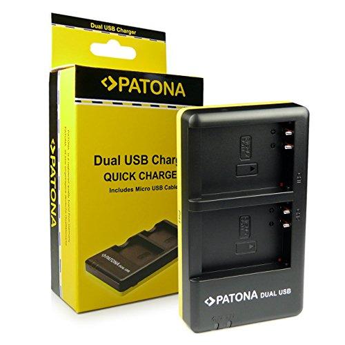 PATONA Dual Caricabatteria PS-BLN1 con micro USB per Batteria Olympus OM-D | OMD | E-M5 | EM5 | E-m5 Mark II | EM5 Mark II | Stylus XZ-2 | Pen E-P5 | OM-D | E-M1 | E-M1 | E-P5