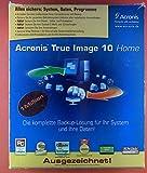 Acronis True Image 10 home. Alles sichern: System, Daten, Programme. Benutzerhandbuch und CD.