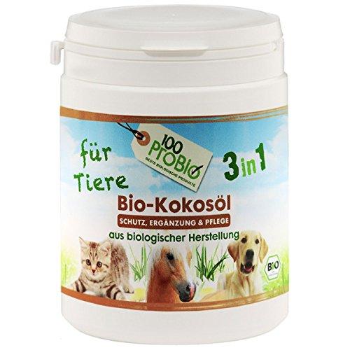 100ProBio Kokosöl für Tiere -zur Fellpflege und Nahrungsergänzung - ohne Chemie (250ml)