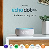 All-new Echo Dot (3rd generation)   Smart speaker with clock and Alexa, Sandstone fabric