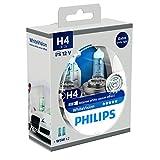Philips WhiteVision 12342WHVSM Effet Xénon H4 pour Éclairage Avant, Set de 2