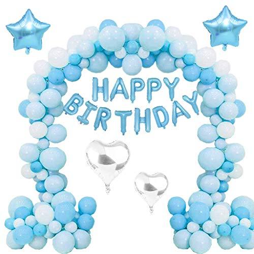 sdekorationsset, 107 Teile Geburtstagsbuchstaben Luftballons Set Happy Birthday Party Ballons Helium Ballons für Mädchen und Jungen jedes Alter, Geburtstag, Karneval, Baby Party ()
