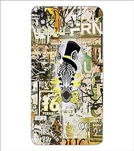 PrintDhaba Graffiti D-2542 Back Case Cover for HTC DESIRE 816 (Multi-Coloured)
