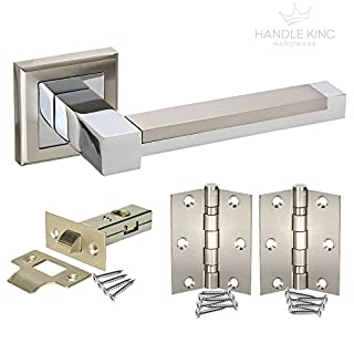 New Door Pack 5 sets Door Handles, Latches & Hinges H61 HL - from Handle King by Access Hardware