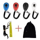 ErKan Training Clickers, 4 Pcs Klicker mit elastischer Handgelenkband für