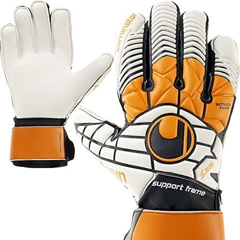 Uhlsport Torwarthandschuhe mit Fingerschutz Fingersave + Handschuh Reiniger (7) (Element Reiniger)