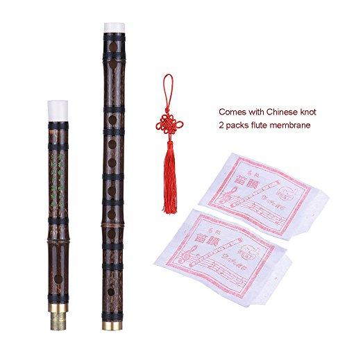 Ammoon handgefertigte, zusammensteckbare Bambusflöte/Dizi Musical, chinesisches, traditionelles Blasinstrument aus Holz, mit F-Schlüssel, für Anfänger-Niveau
