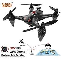 HUHU833 GW198 Wide-angle GPS 720P HD Camera 5G WIFI Follow Me Ray Brushless Motor RC Quadcopter by HUHU833