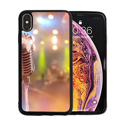 WOCNEMP Singer's Microphone Custodia Rigida per iPhone XS Max Custodia Rigida per iPhone Custodia Rigida Antiurto per Apple Apple XS Max 6.5 Pollici