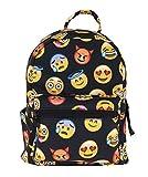 Kukubird Mini Bag Black Expression Emoji Black Printed Pattern Rucksack Backpack