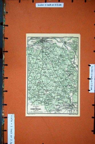 MAPPA FRANCIA 1878 PLAN FORET DE COMPIEGNE