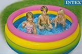 Planschbecken INTEX 4 Ring Pool bunt 168 x 46 cm Baby Kinder