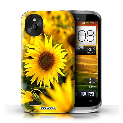 Kobalt® Imprimé Etui / Coque pour HTC Desire X / Fleur jaune conception / Série floral Fleurs Champs de fleurs