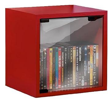 VCM Quattro Mobiletto Porta CD/DVD Colore: Rosso: Amazon.it: Casa ...