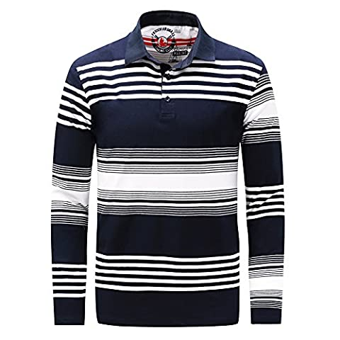 Feicuan Homme Polo à manches longues Chemise Turndown Collar Thick Casual Tops T-shirt