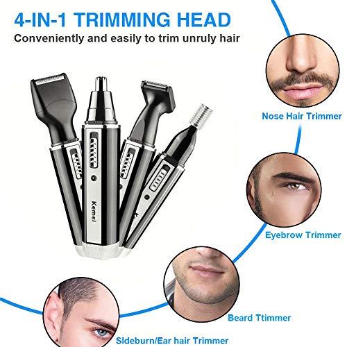 Nase Hair Trimmer Eye Brow trimmen Ohr Haar Mens Bart Rasierer Koteletten wasserdicht 4 in 1 mit USB-Kabel, 2W -