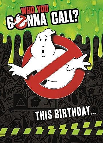 Ghostbusters Geburtstagskarte mit (Ghostbuster Zubehör)