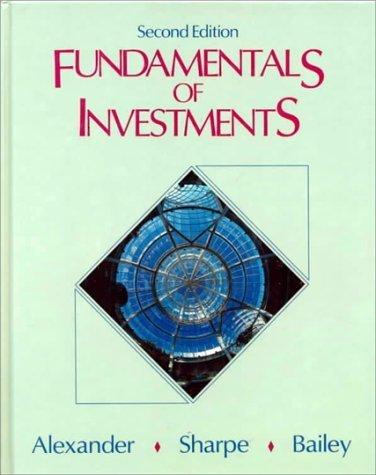 Fundamentals of Investments by Gordon J. Alexander (1993-02-23)