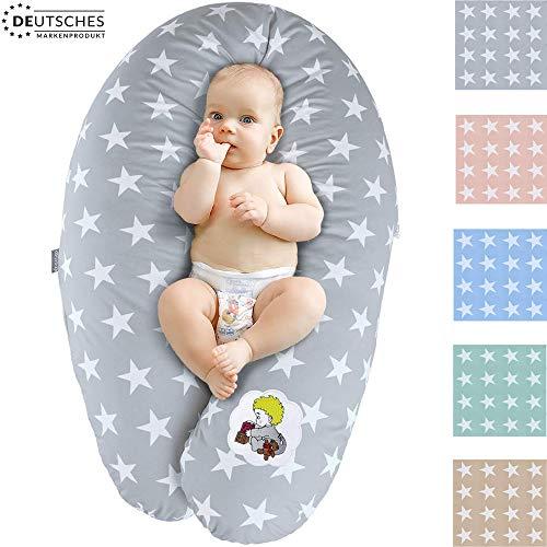 Sei Design Coussin d'allaitement et de Grossesse | Maternité Bebe Oreiller XXL 190 x 30| Remplissage EPS microbilles | Taie 100% Coton Amovible et Lavable